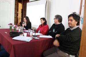 De derecha a izquiera: Alfredo Seguel, Lucio Cuenca, Gloria Chicaiza y Mirta Antonelli