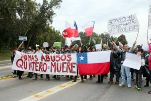 Protesta Quintero