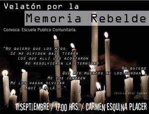 Velaton por la memoria rebelde
