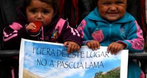 Foto: Sebastián Cruz, marcha contra Pascua Lama año 2009 en Vallenar.